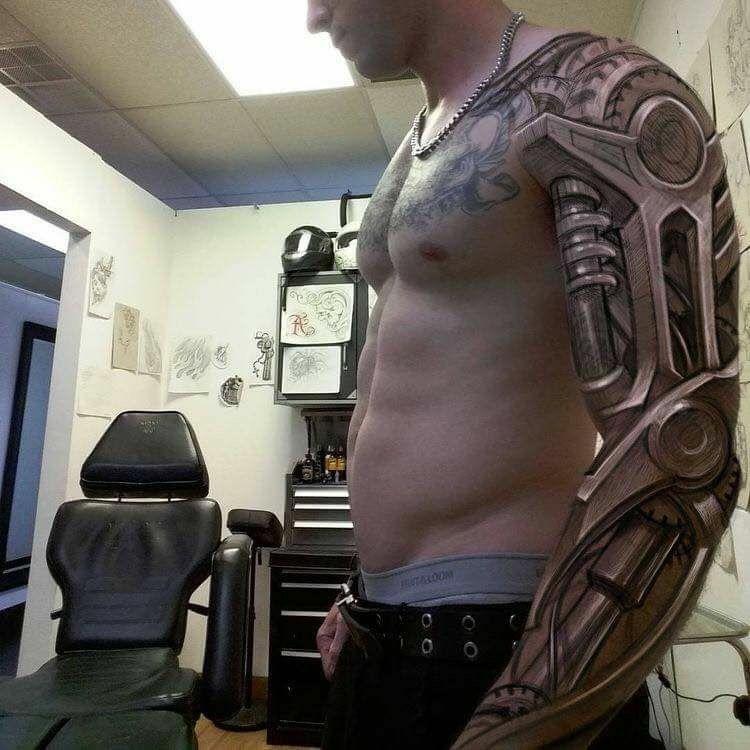 Customer tattoo